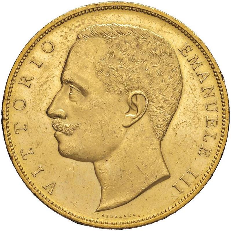 SAVOIA. VITTORIO EMANUELE III (1900-1943) 100 LIRE AQUILA SABAUDA 1905