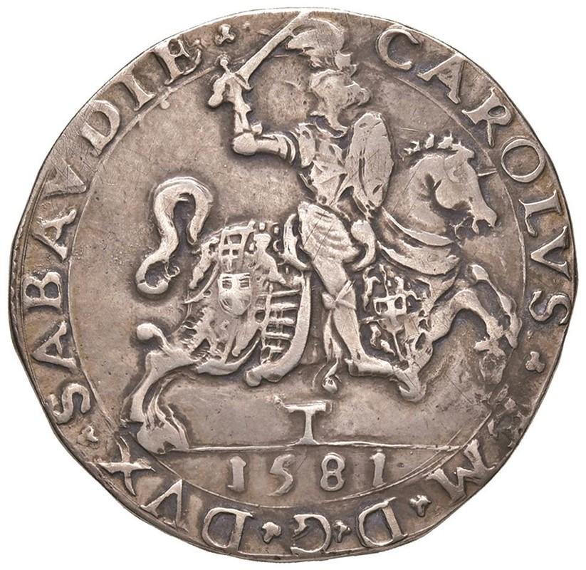 SAVOIA. CARLO EMANUELE I (1580-1630) TALLERO 1581