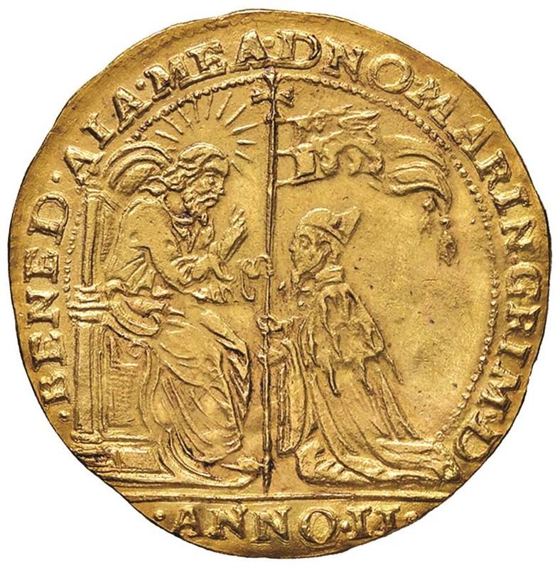 VENEZIA. MARINO GRIMANI (1595-1605) OSELLA D'ORO DA 4 ZECCHINI 1596