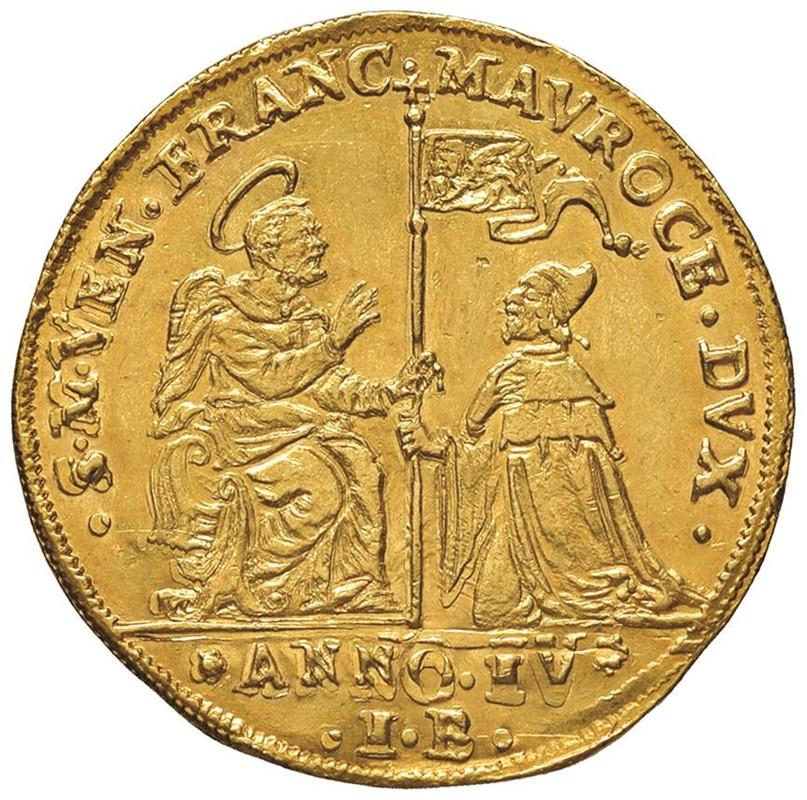 VENEZIA. FRANCESCO MOROSINI (1688-1694) OSELLA D'ORO DA 4 ZECCHINI AN. IV (1691)