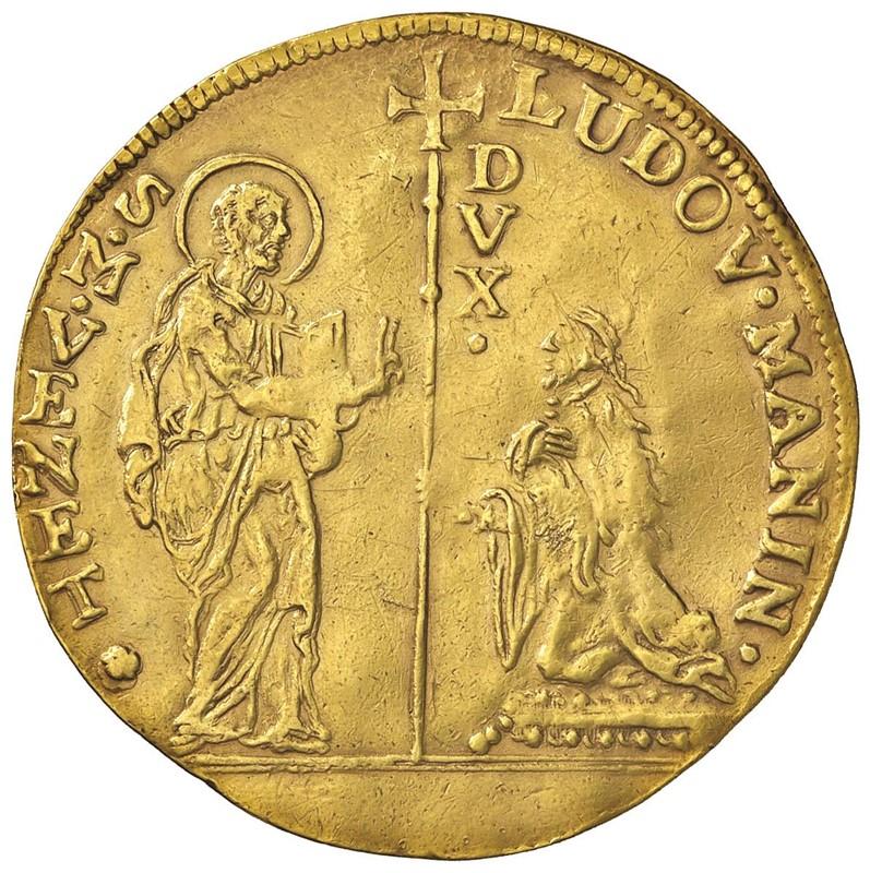 VENEZIA. LODOVICO MANIN (1789-1797) MULTIPLO D'ORO DA 8 ZECCHINI
