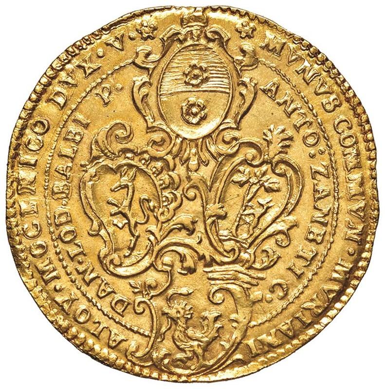 MURANO. ALVISE IV MOCENIGO CXVIII DOGE (1763-1778) OSELLA D'ORO DA 4 ZECCHINI 1772