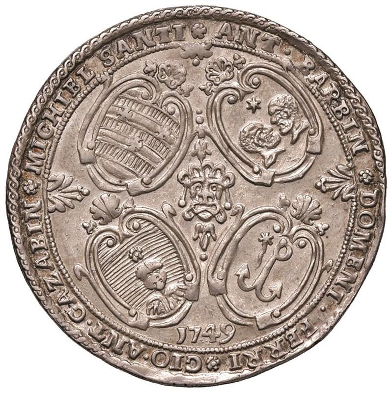 MURANO. PIETRO GRIMANI CXV DOGE (1735-1741) OSELLA 1749