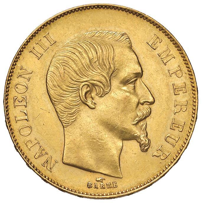 FRANCIA. NAPOLEONE III (1852-1870) 50 FRANCHI 1855 A