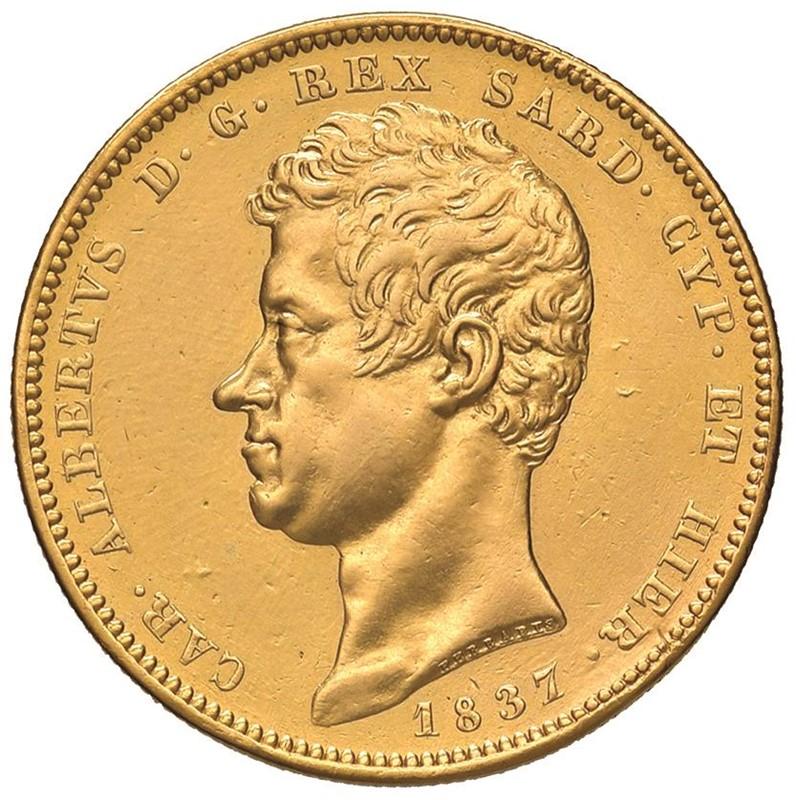 SAVOIA. CARLO ALBERTO (1831-1849) 100 LIRE 1837 Torino