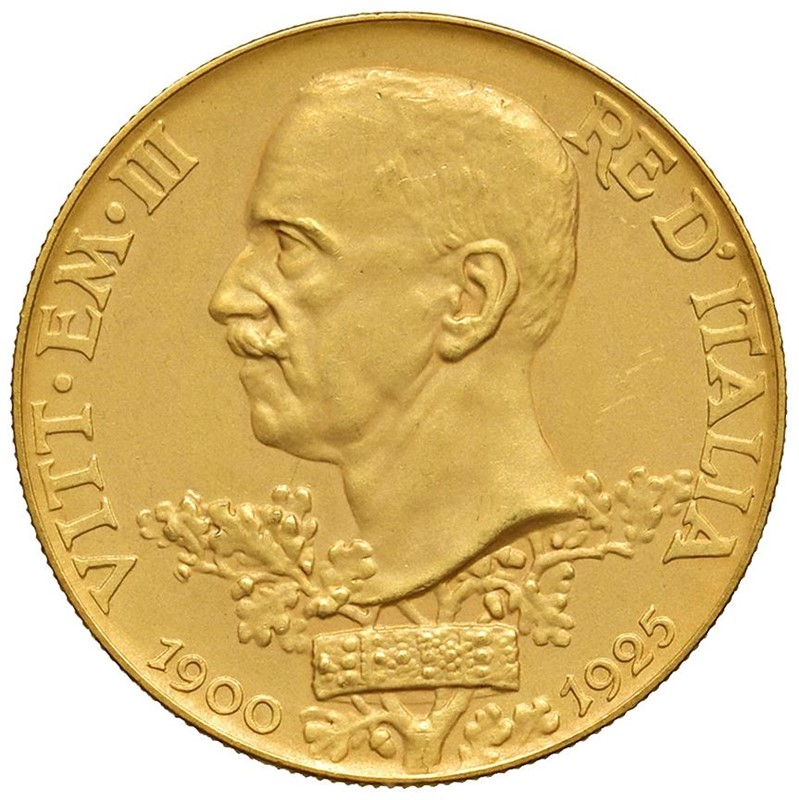SAVOIA. VITTORIO EMANUELE III (1900-1943) 100 LIRE VETTA D'ITALIA 1925