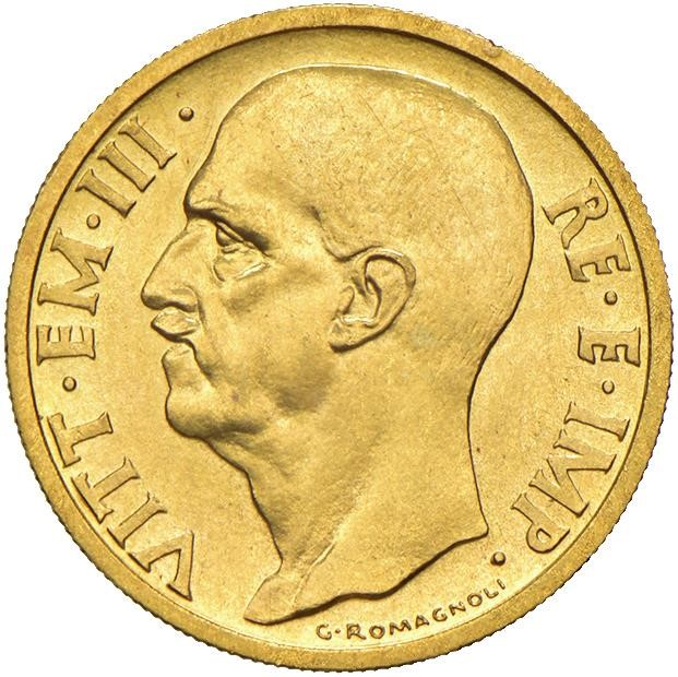 SAVOIA. VITTORIO EMANUELE III (1900-1943) 50 LIRE IMPERO 1936 Roma