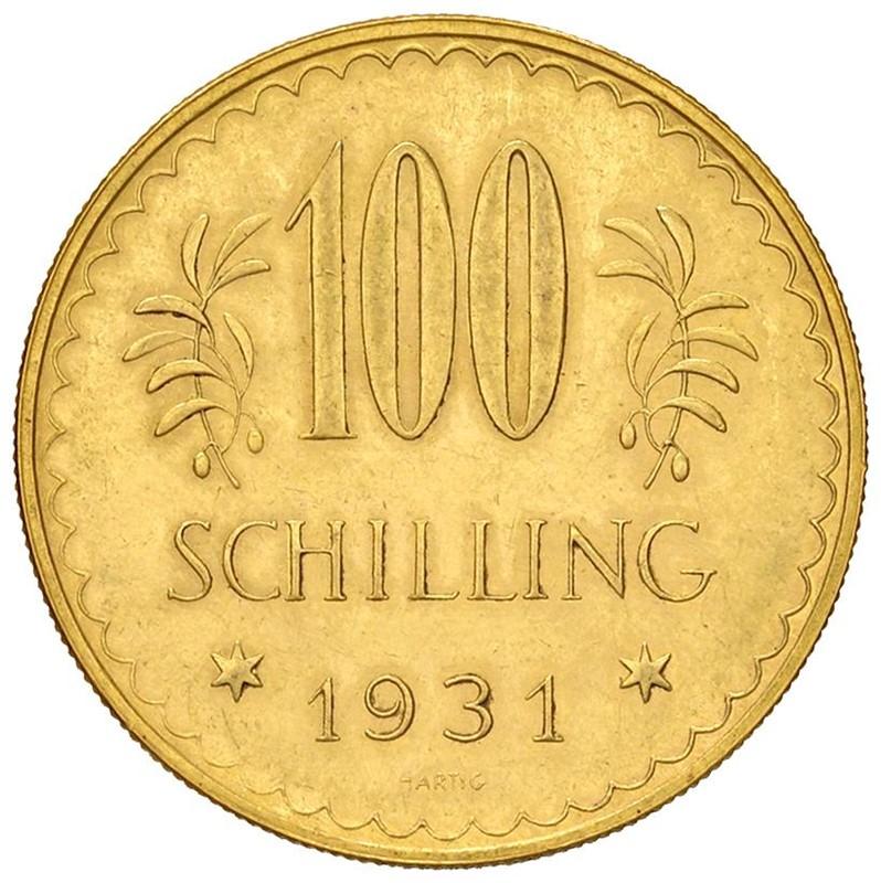 AUSTRIA. 100 SCELLINI 1931