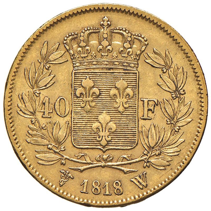 FRANCIA CARLO X (1824-1830) 40 FRANCHI 1818 W