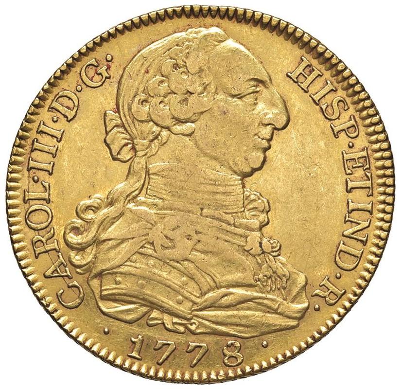 SPAGNA CARLO III (1759-1788) 8 ESCUDOS 1778 Madrid (M-PJ)