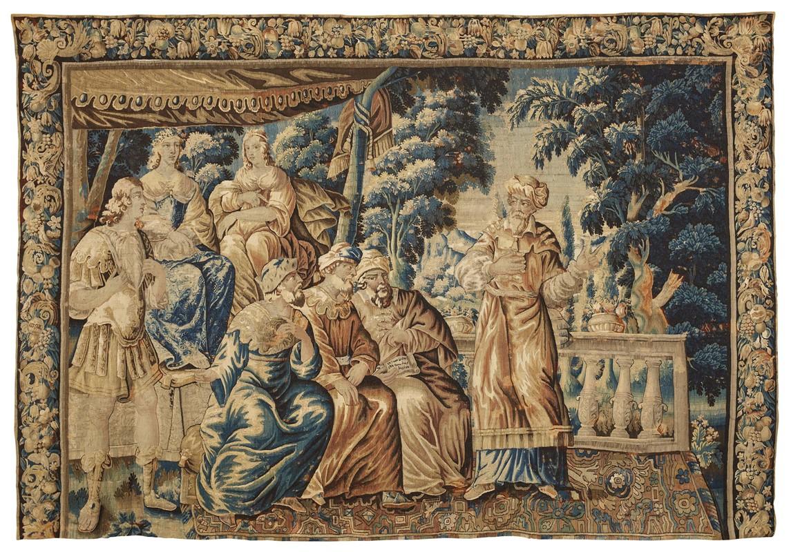 ARAZZO, AUBUSSON, FRANCIA, 1650-1660 CIRCA