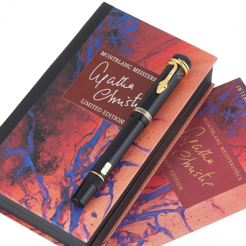 "MONTBLANC ""AGATHA CHRISTIE"" MEISTERSTUCK PENNA STILOGRAFICA WRITERS EDIZIONE LIMITATA N. 0202/4810"