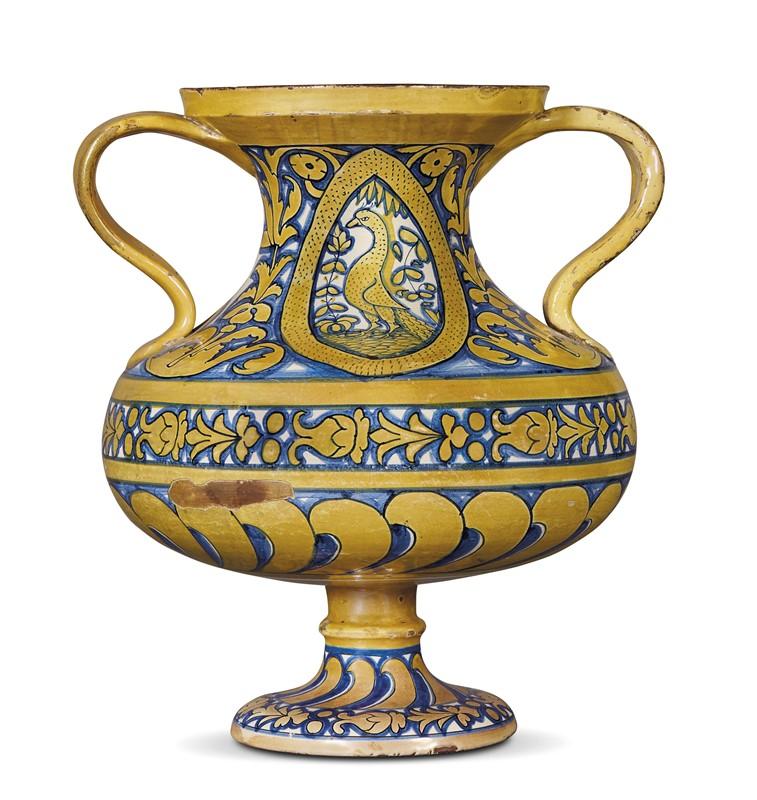 GRANDE VASO BIANSATO, DERUTA, 1510-1540 CIRCA