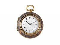OROLOGIO DA TASCA A TRE CASSE JOSEPH FRENCH ROYAL EXCHANGE LONDON IN METALLO DORATO E TARTARUGA PER IL MERCATO TURCO N.22257 CIRCA 1820