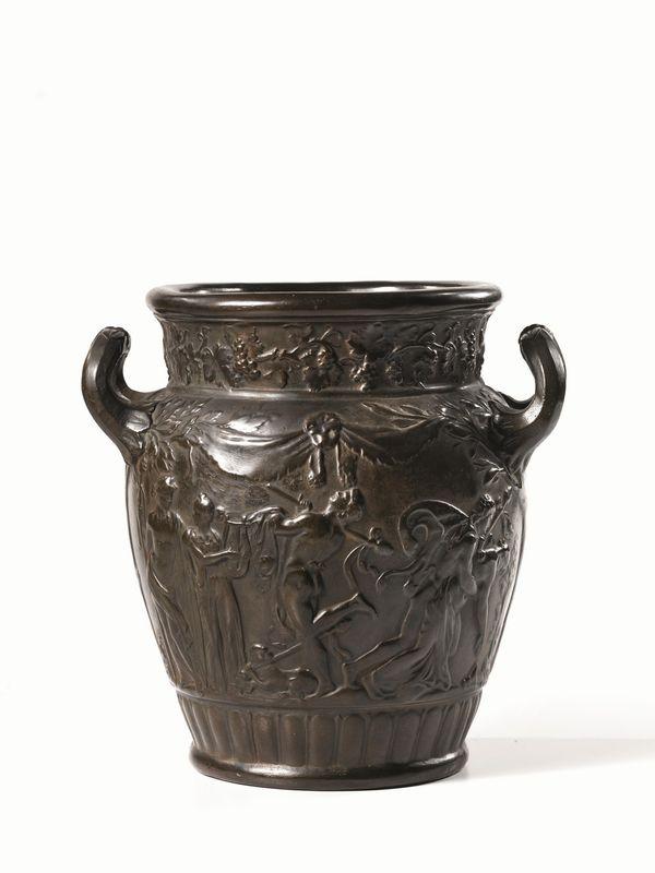 Vaso, manifattura di Signa, inizi sec. XX, in terracotta patinata ad ...