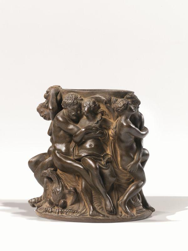 Vasetto, manifattura di Signa, inizi sec. XIX, in terracotta ...
