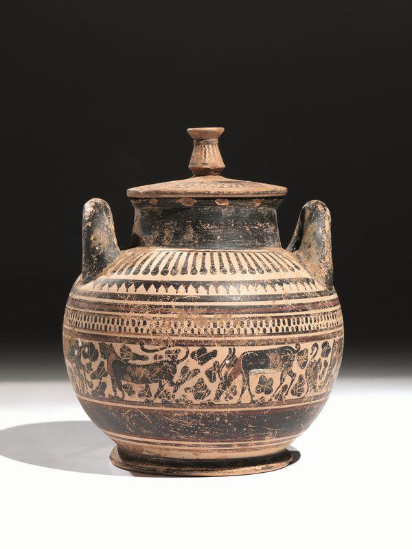 Stamnos etrusco corinzio asta reperti archeologici for Vaso greco a due anse