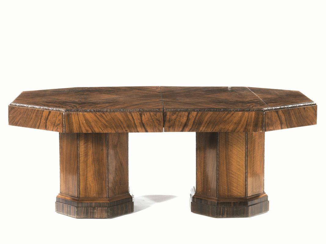 Tavoli Da Pranzo Antichi : Tavolo da pranzo anni trenta in mogano piano ottagonale su due