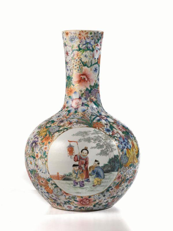 Vaso cina periodo repubblicano in porcellana mille for Vaso di porcellana