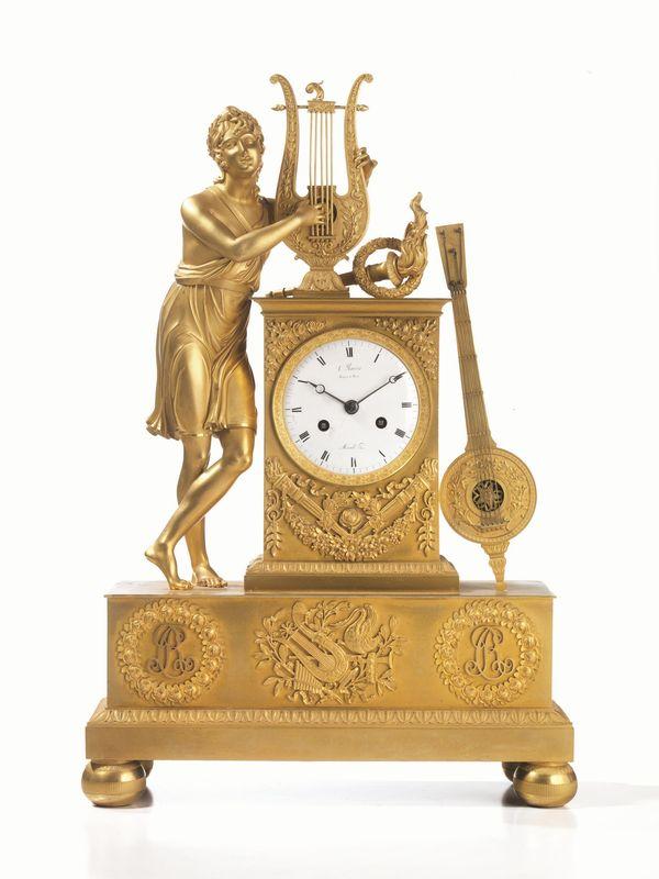 Orologio da tavolo francia 1820 1840 in bronzo dorato cassa quadrangolare decorata con fregi - Orologi antichi da tavolo ...