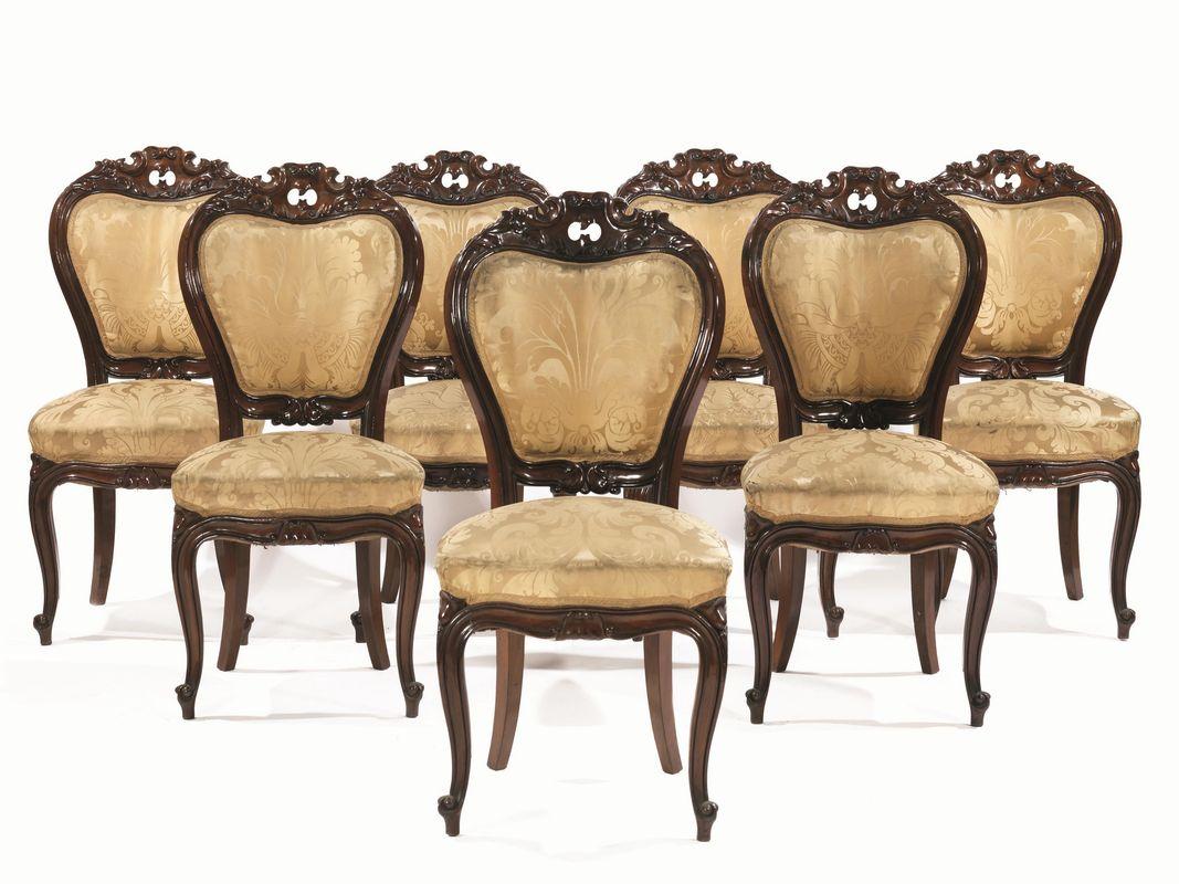 Sette sedie livorno 1860 circa en suite con il lotto for Sedie importanti