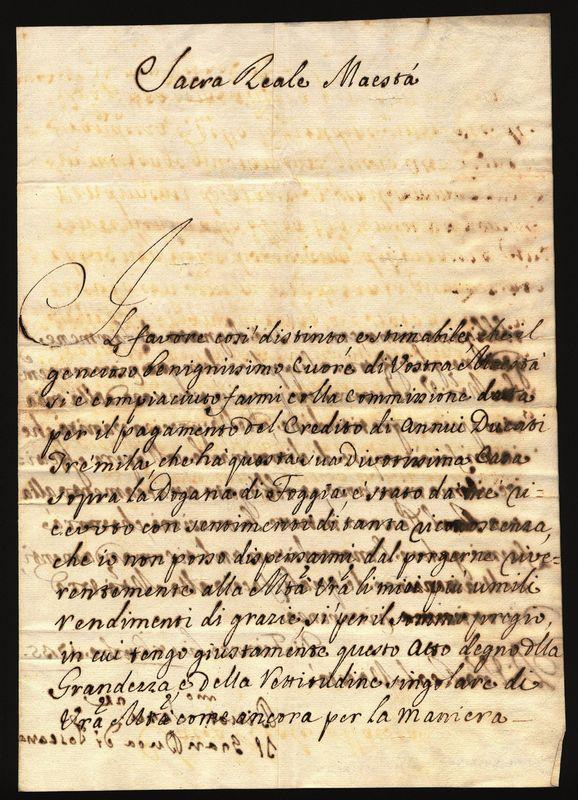 Gian gastone de medici 1671 1737 lettera di - Pagine di ringraziamento e divertimento ...