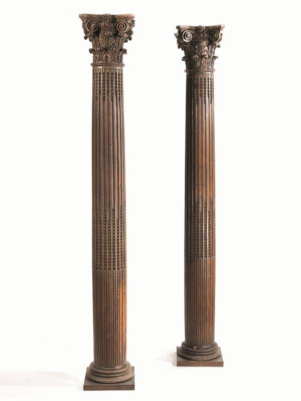 Coppia di grandi colonne francia fine sec xviii asta for Grandi arredi mobili