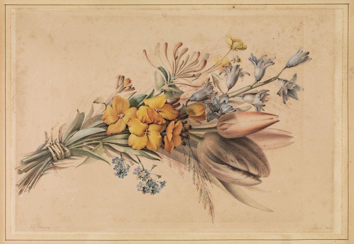 Scuola francese del xix secolo asta stampe e disegni for Immagini di quadri con fiori