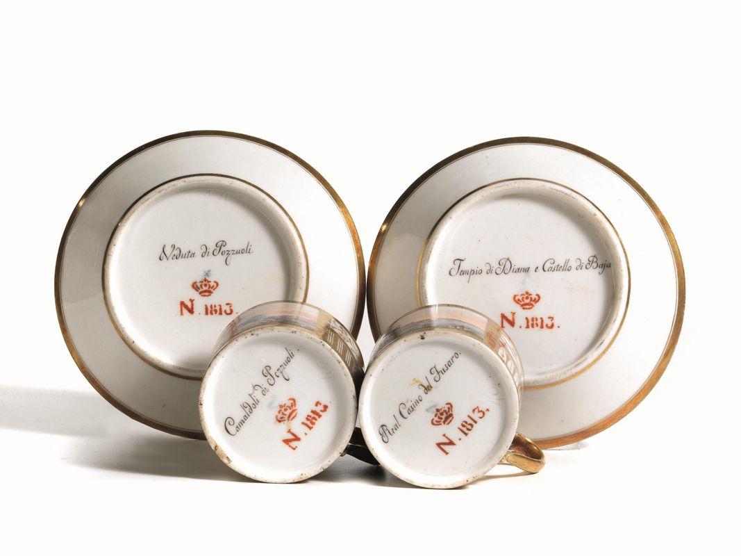 Due tazzine con piattino napoli real fabbrica for Fabbrica mobili napoli