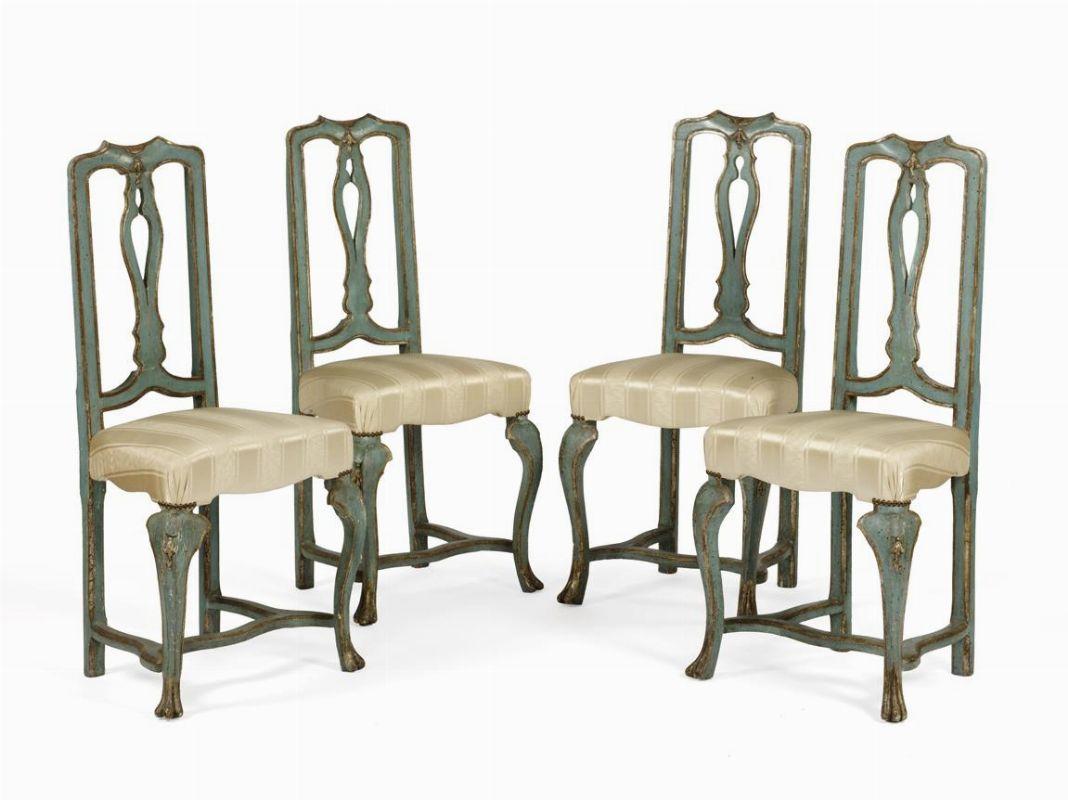 Quattro sedie veneto porcellane e maioliche asta for Sedie importanti