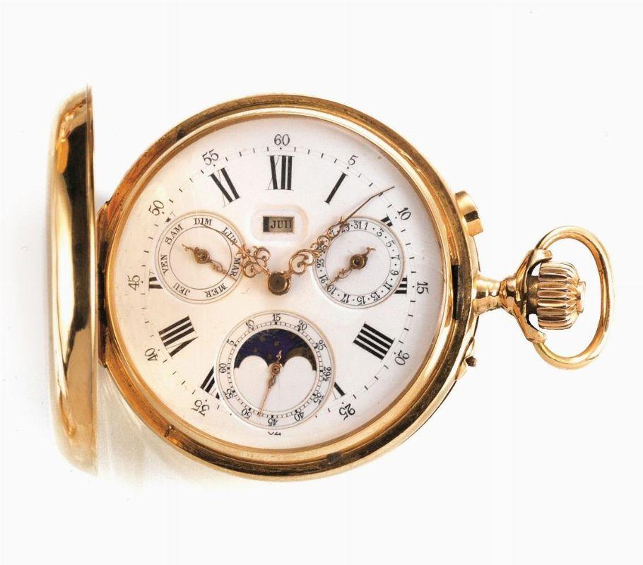 Orologio da tasca con calendario completo e fasi lunari for Immagini orologi da polso