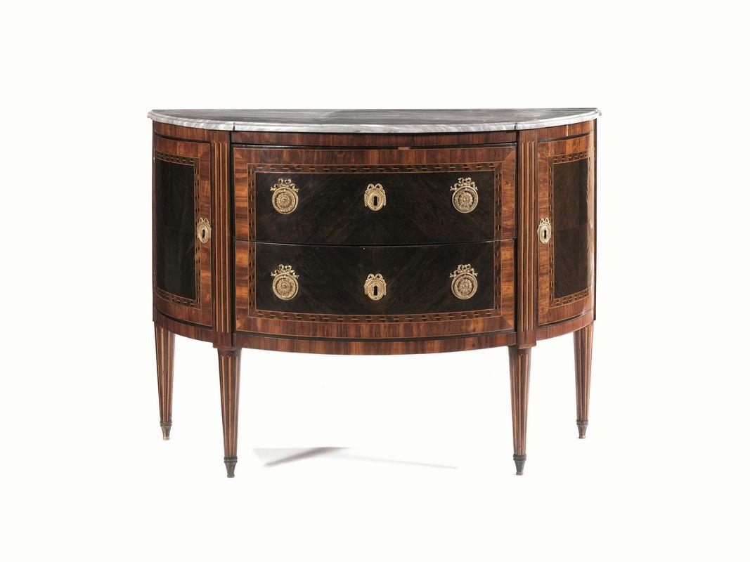 Cassettone a mezza luna piemonte fine secolo xviii mobili ed oggetti d 39 arte asta - Arredi e mobili ...