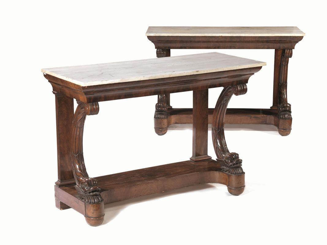 Coppia di grandi consoles napoli circa 1830 mobili ed for Grandi arredi mobili