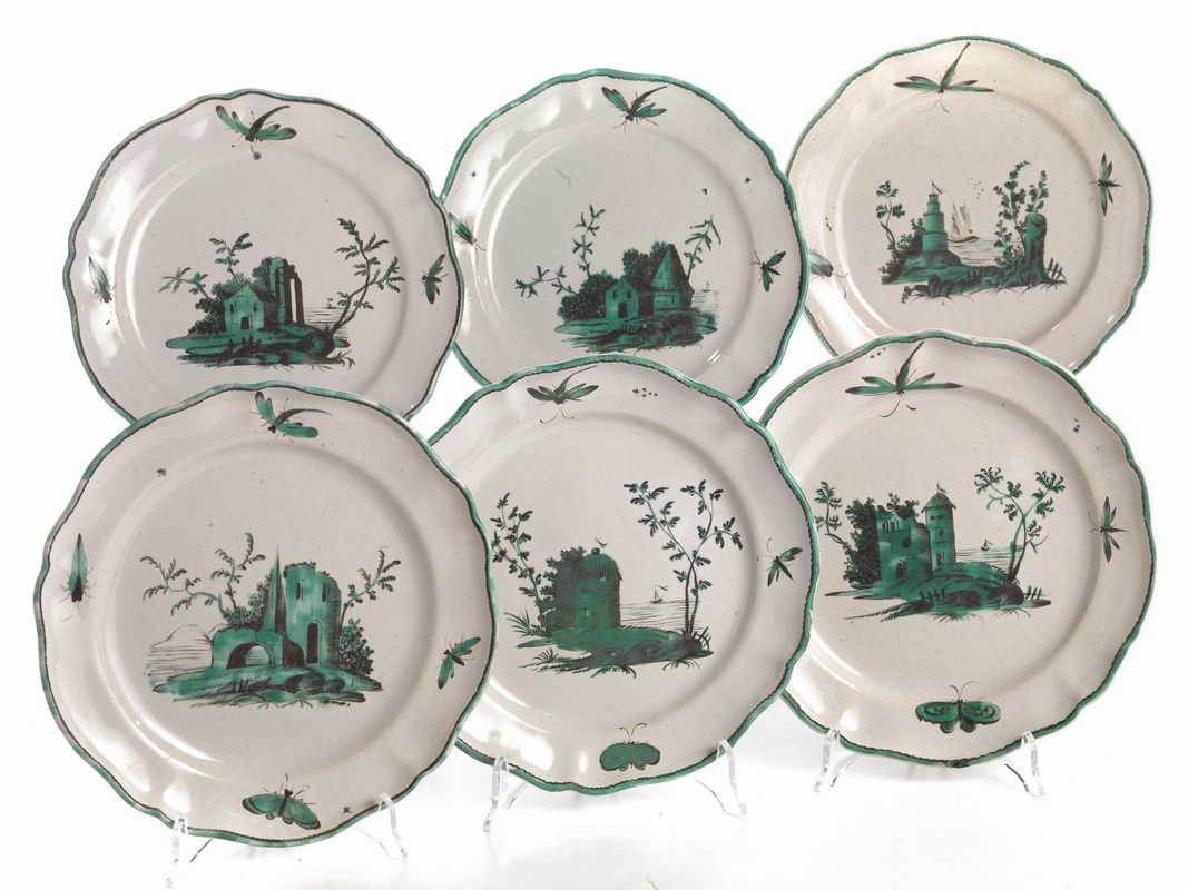 Casa In Bologna Ceramiche.Sei Piatti Bologna Manifattura Finck 1775 1797 Porcellane E