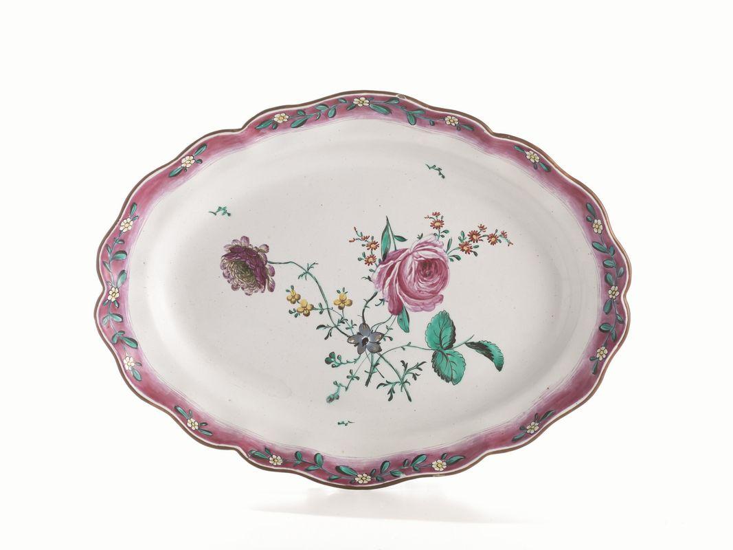 Casa In Bologna Ceramiche.Vassoio Bologna Manifattura Finck 1775 1797 Porcellane E