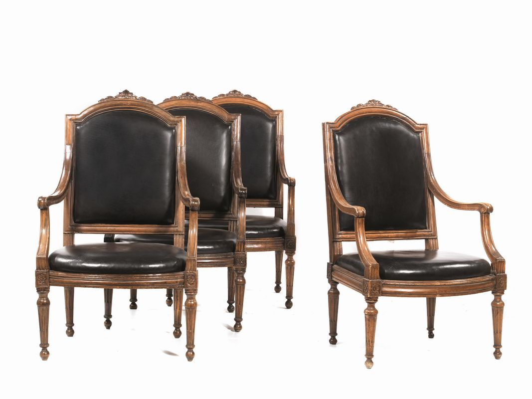 Quattro poltrone genova secolo xviii mobili ed oggetti - Mobili rivestiti in pelle ...