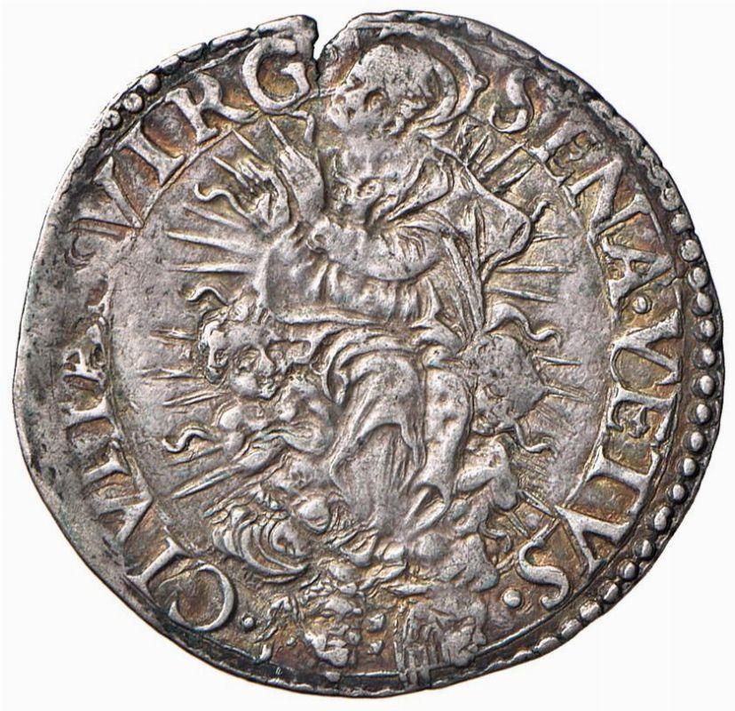 Siena repubblica 1404 1555 giulio 1549 monete e for Case moderne sotto 2000 piedi quadrati