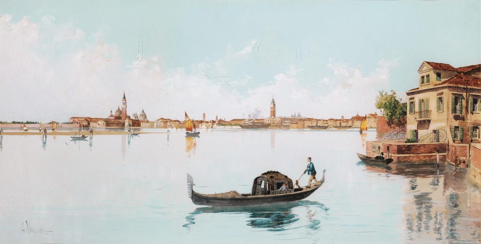 Giuseppe Vizzotto Alberti, Gondola in laguna