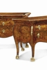 A PAIR OF MID-EIGHTEENTH CENTURY COMMODES, PAPAL STATE - ROME